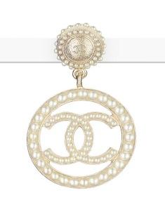Chanel CC Pearl Earrings