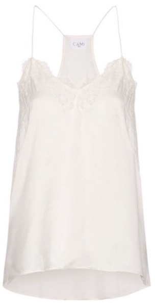 Cami NYC - Silk and Lace Cami in Ivory